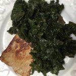 Escalope de veau au chou kalé